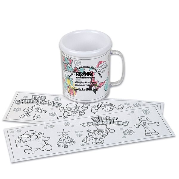 Promotional 8 oz Holiday Coloring Mug