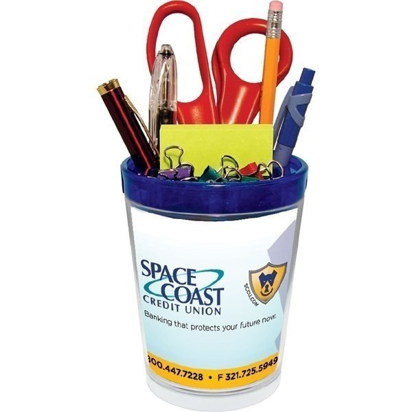 Promotional Desk Caddy with 4- Color Process Insert - Plastic