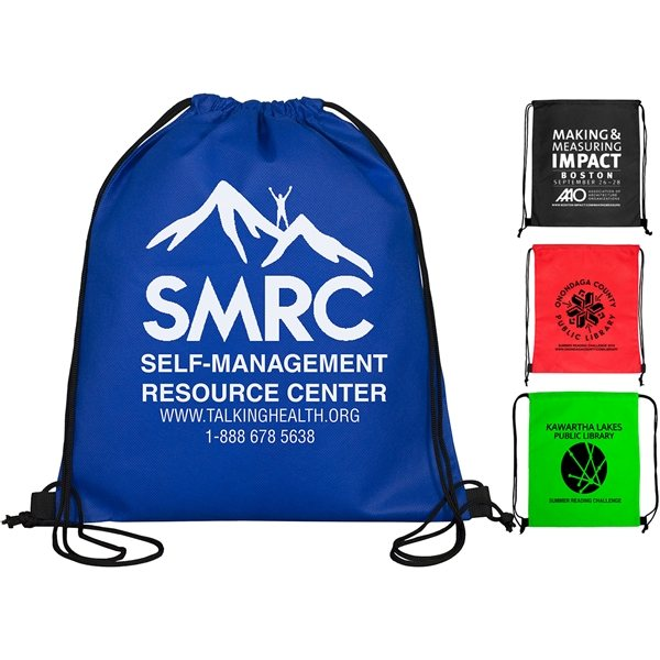 Promotional 80GSM Economy Drawstring Cinch Pack Backpack