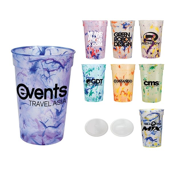 Promotional 17 oz Confetti Stadium Cup