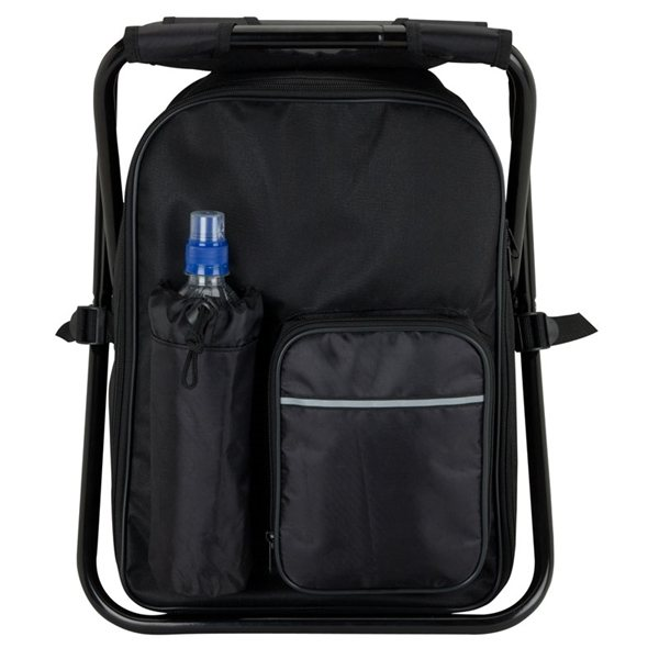 Promotional Black Polyester Zippered Cooler Bag Chair