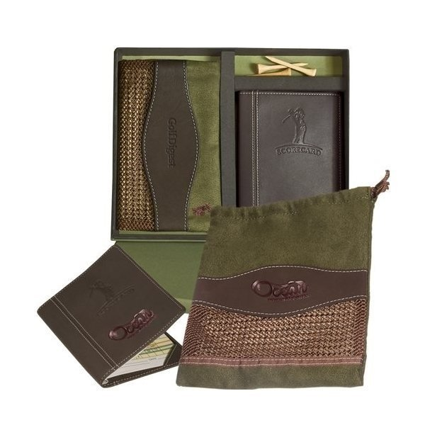 Promotional Woodbury(TM) Golf Pouch / Scorecard Set