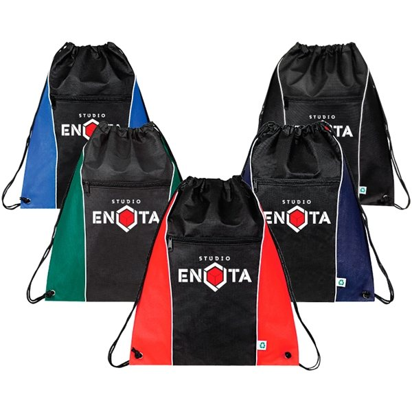 Promotional Juno Eco Friendly Drawstring Backpack