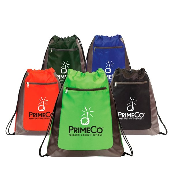 Promotional Ocala Deluxe Drawstring Backpack