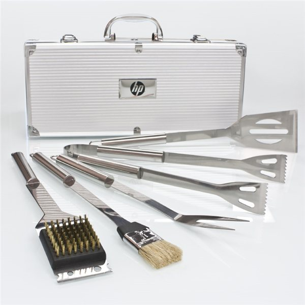 Promotional Deluxe 5 PC Stainless Steel BBQ Tool Set