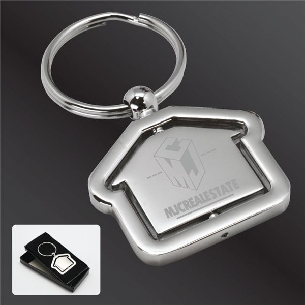 Promotional Alloy Rochester Revolving House Key Tag