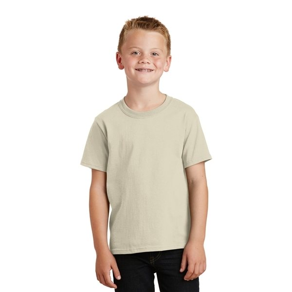 Promotional Port Company Youth 5.4- oz 100 Cotton T - Shirt - WHITE