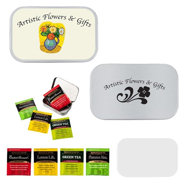 Promotional Small Tin Box with Assorted Tea Bags