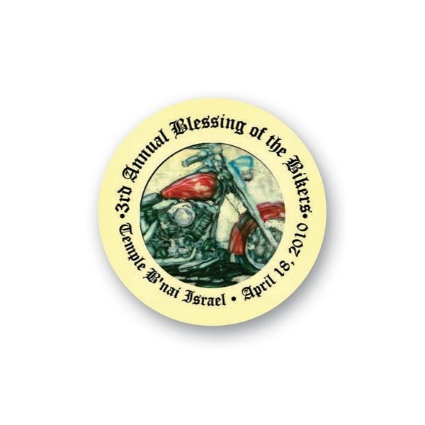 Promotional Full Color Lapel Pin - 1.25 Inch Circle