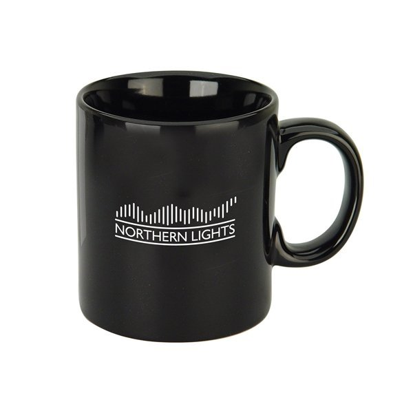 Promotional 20 oz Jolt Black Jumbo Ceramic Mug