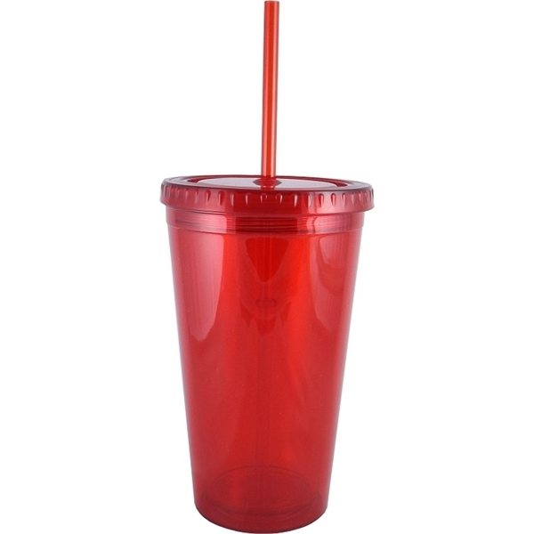Promotional 16 oz Acrylic Double Wall Plastic Tumbler