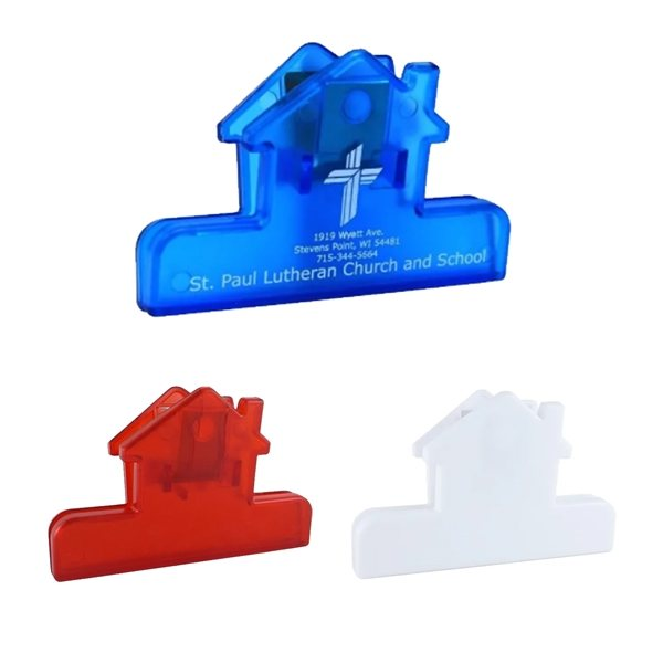 Promotional 4 House Shaped Bag Clip