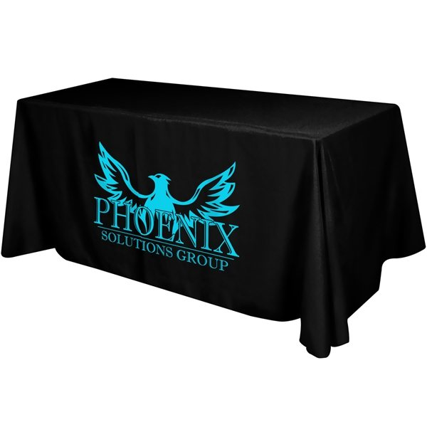 Promotional Flat 3- Sided Table Cover - 6