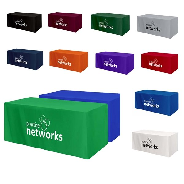 Promotional 3- Sided Table Cover For 6 Table