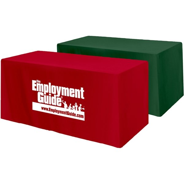 Promotional Fitted 4- Sided Table Cover - Fits 4 Foot Standard Table