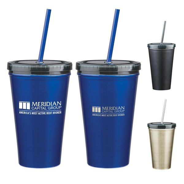 Promotional 16 oz Stainless Steel Double Wall Tumbler