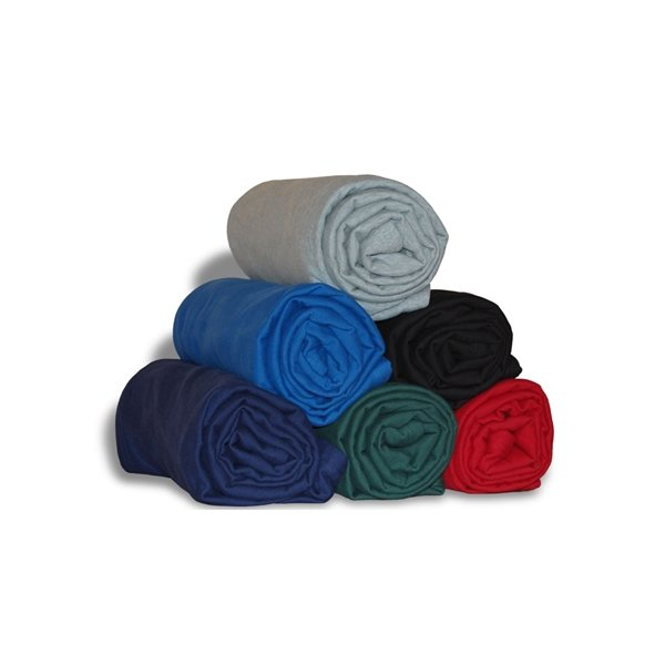 Promotional Embroidered Jersey Cotton Blankets