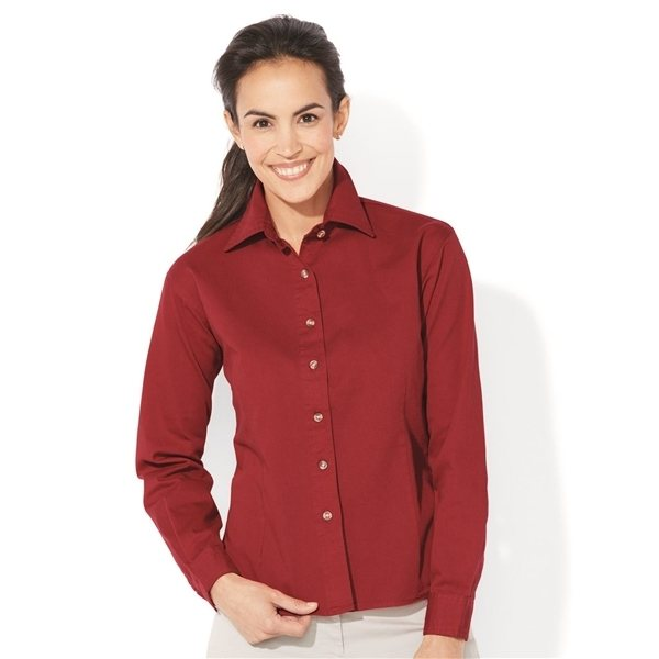 Promotional Sierra Pacific Ladies Long Sleeve Cotton Twill Shirt - COLORS