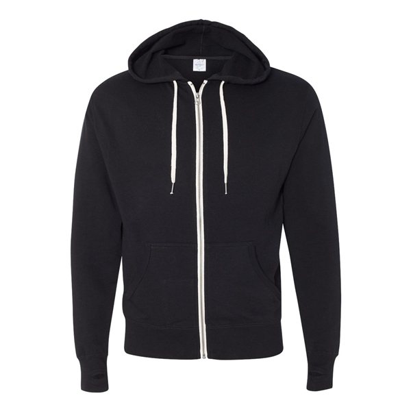 Promotional Independent Trading Co. Unisex French Terry Heathered Full - Zip Hoody - COLORS