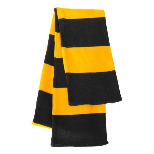 Promotional Sportsman Rugby Striped Knit Scarf - COLORS