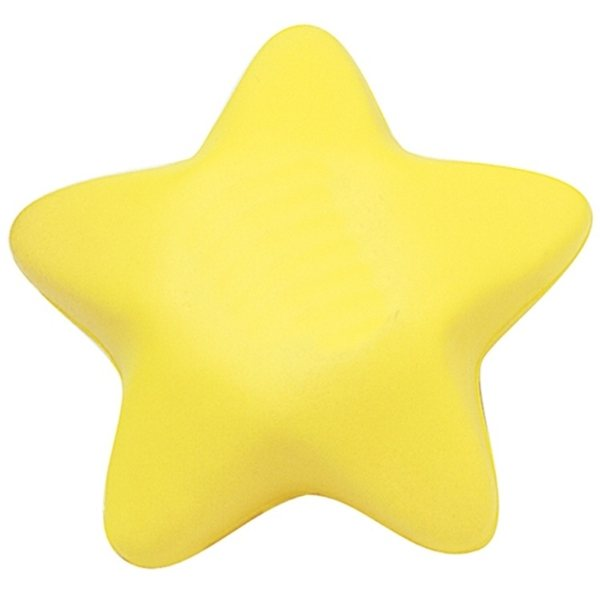 Promotional Yellow Star Squeezies Stress Reliever