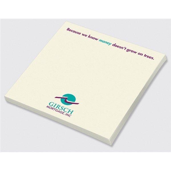 Promotional Post - it(R) Custom Printed Notes 4 x 4 , 25 sheets - RECYCLED