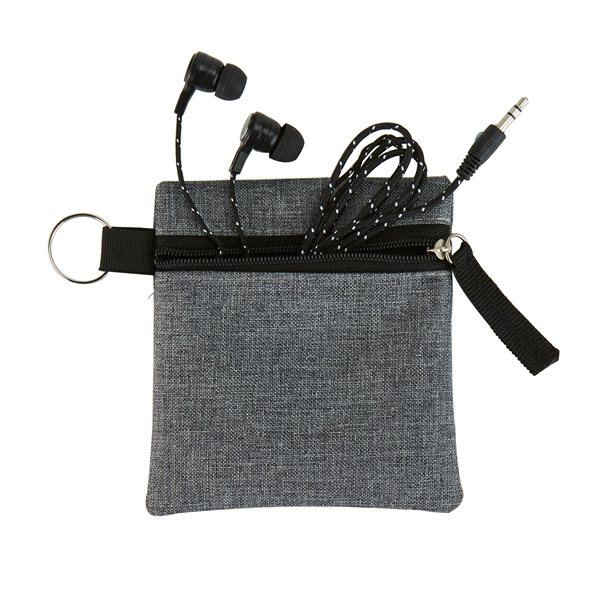 Promotional Braided Fabric Earbuds