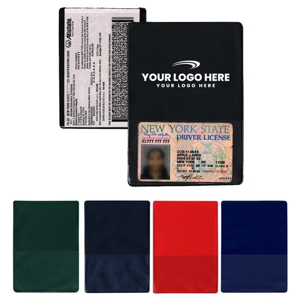 Promotional Insurance Card Holder(with extra pocket)