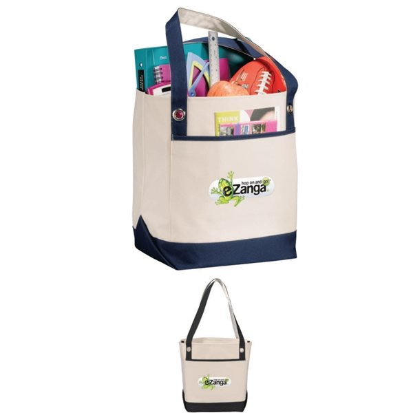 Promotional Harbor Boat Tote with Open Front Pocket