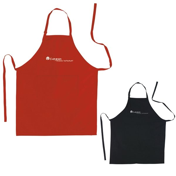 Promotional 100 Cotton Adjustable Apron With Pocket