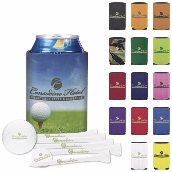 Promotional Collapsible KOOZIE(R) Deluxe Golf Event Kit - DT Trusoft(TM)