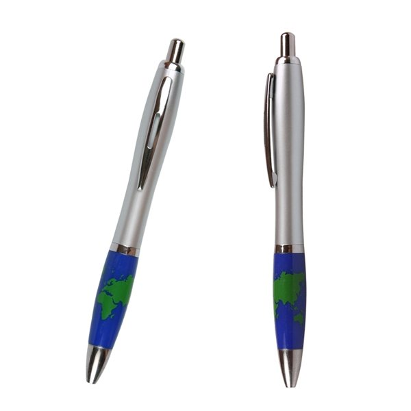 Promotional Emissary Click Pen - Earth / Global