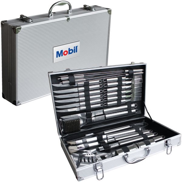 Promotional Deluxe 24 PC BBQ Tool Set