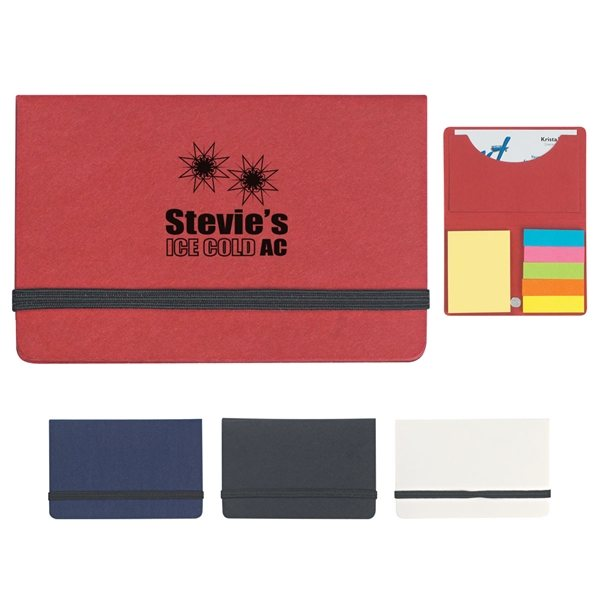 Promotional Sticky Notes And Flags In Business Card Case