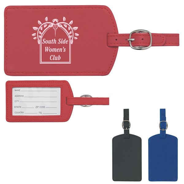 Promotional Soft Touch Pleather Luggage Tag