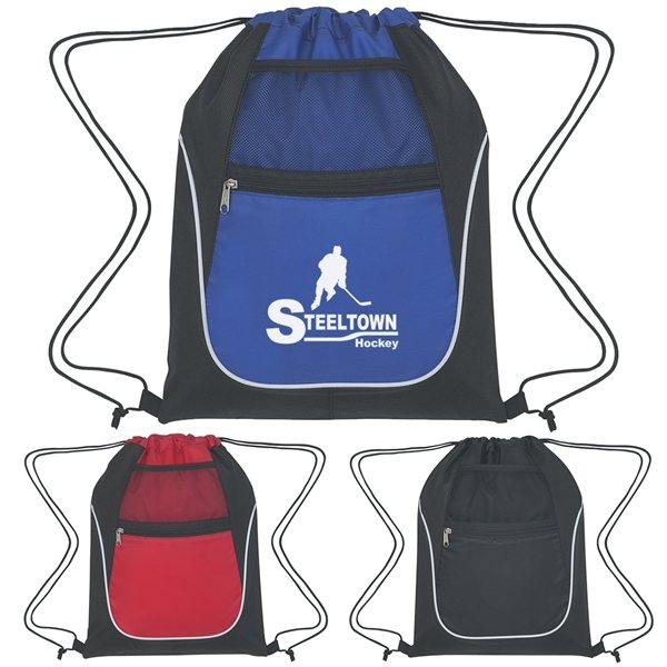 Promotional Drawstring Sports Pack With Dual Pockets