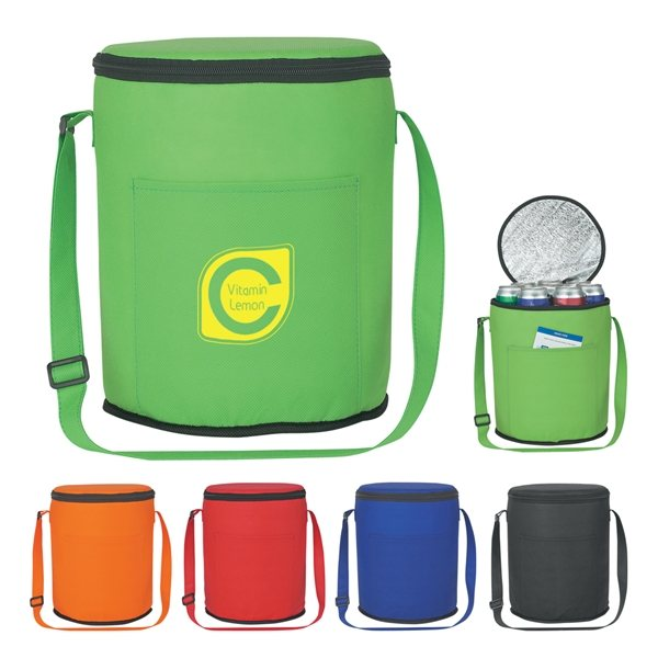 Promotional Non - Woven Round Cooler Bag