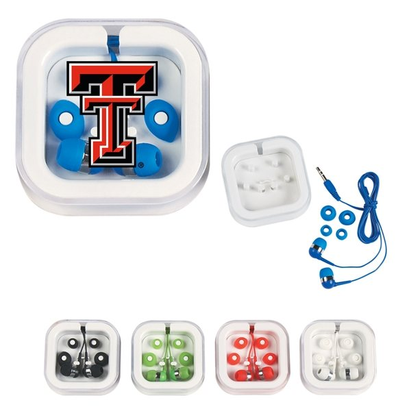 Promotional 48 Cord Ear Buds In Case