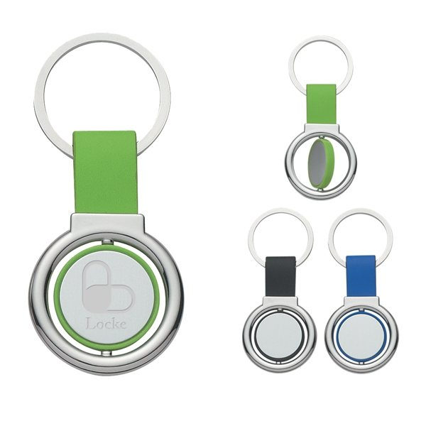 Promotional Circular Metal Spinner Key Tag