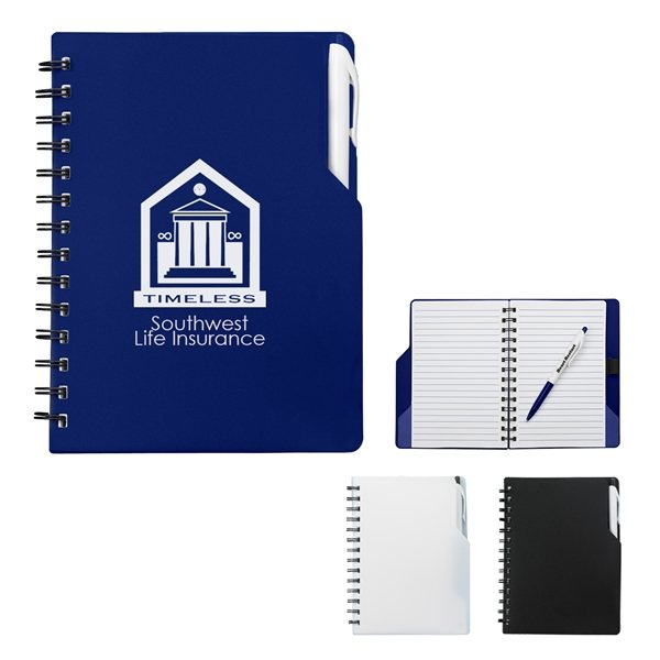 Promotional Spiral Notebook With Pen