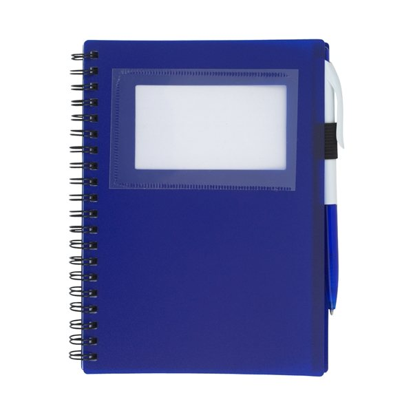 Promotional Spiral Notebook With ID Window