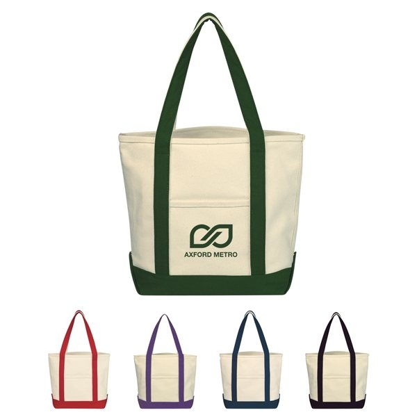 Promotional Small Heavy Cotton Canvas Boat Tote Bag