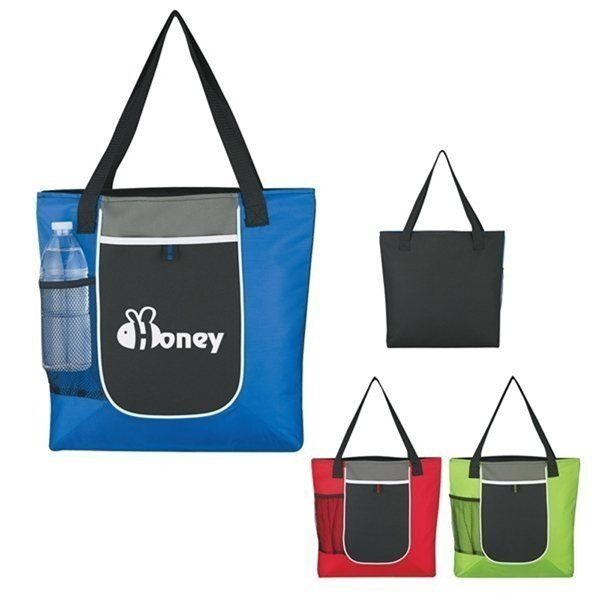 Promotional 600D Polyester Roundabout Tote Bag