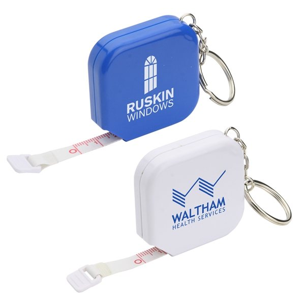 Promotional Square 5 Tape Measure with Key Chain