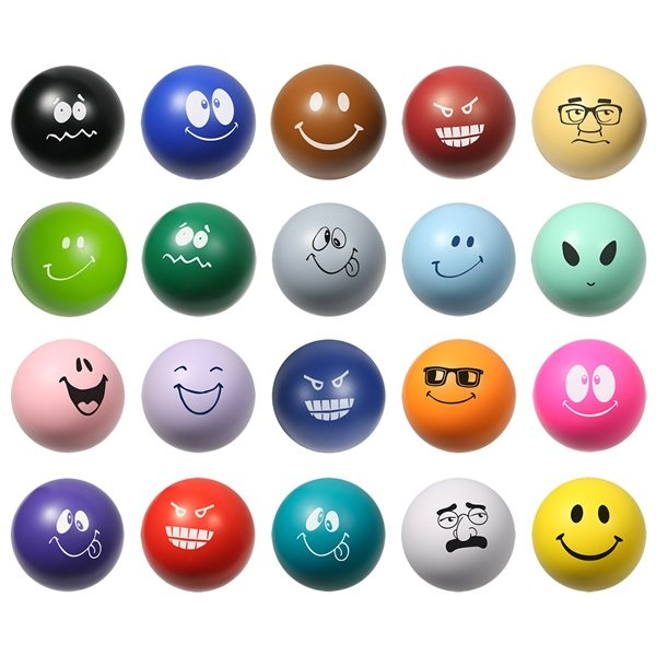 Promotional Handcrafted Emoticon Stress Reliever Stress Ball