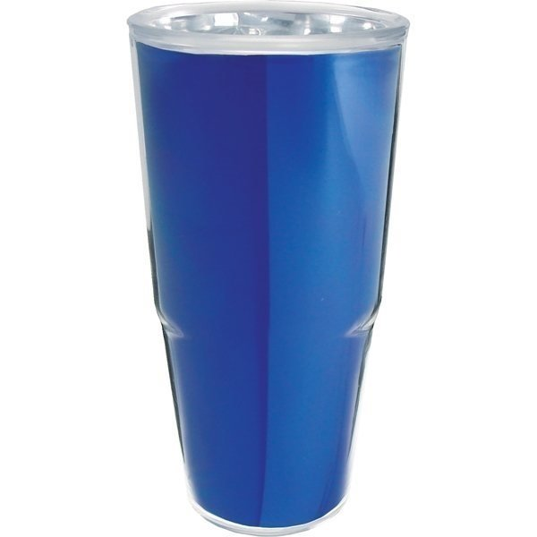Promotional 24 oz Thermal Tumbler with Foil Insert - Plastic