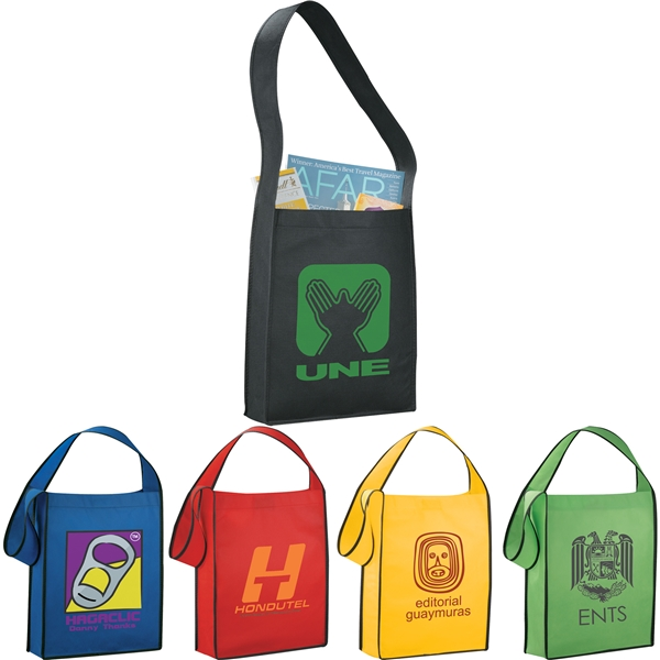Promotional Cross Town Non - Woven Shoulder Tote