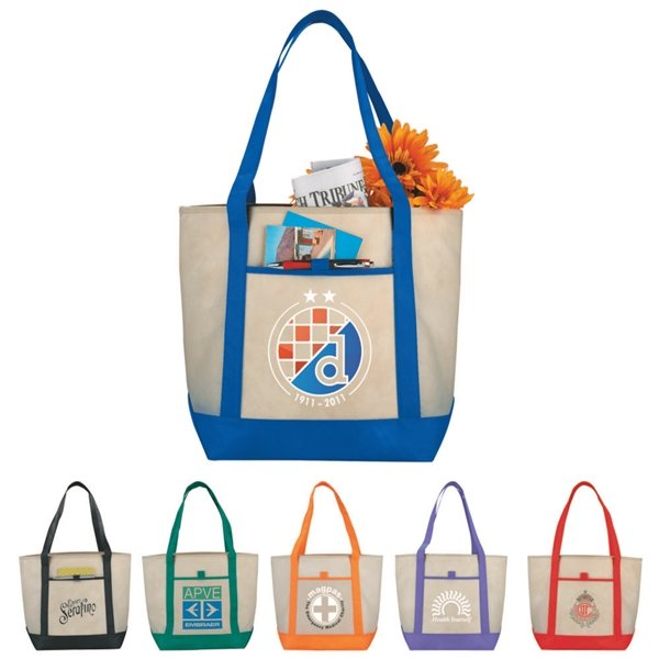 Promotional Lighthouse Non - Woven Boat Tote