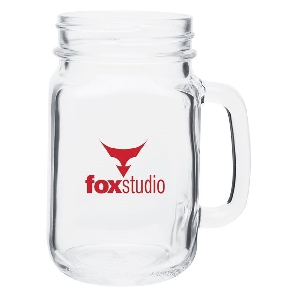 Promotional 16 oz Mason Mug - Clear