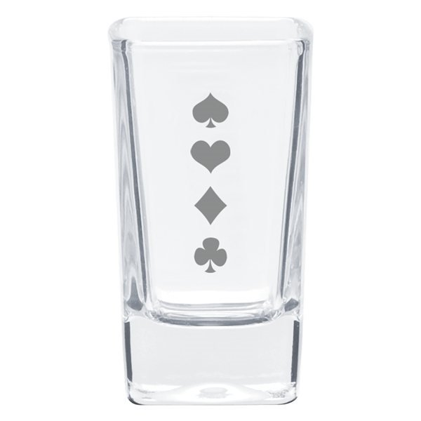 Promotional 2.8 oz Square Shooter / Desert Glass - Clear